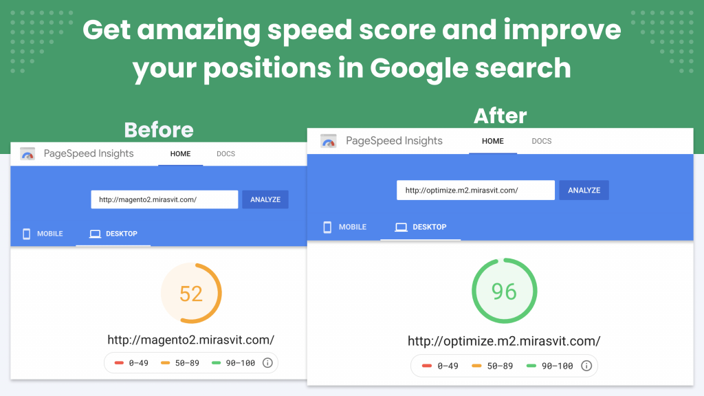 page speed comparison