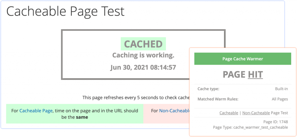 the test page